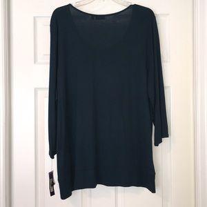 APT.9-Ladies Top- Size 2X Blueish/Green Color